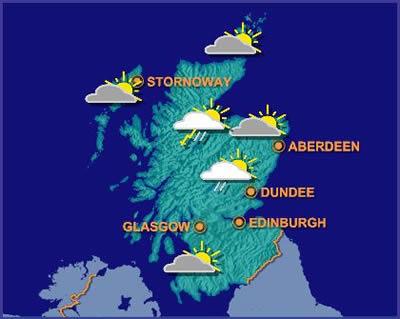 Scotland Weather Map.Langlands Golf Club